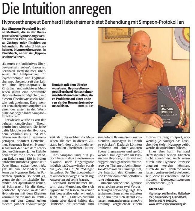 Rheinpfalz Artikel SP 29.7.2015